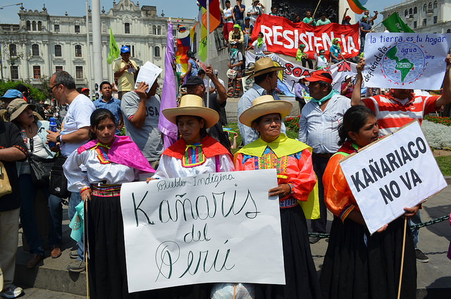 Fotografías de la Marcha de los Pueblos Por la Madre Tierra de Lima