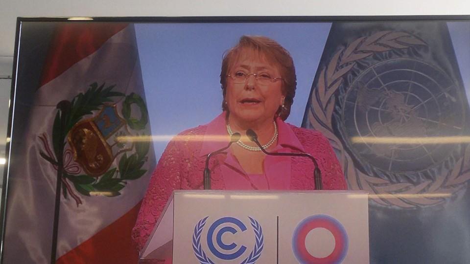"""Mesa Ciudadana Sobre el Cambio Climático: """"Sin nuevos anuncios fue discurso de Bachelet en COP20″"""
