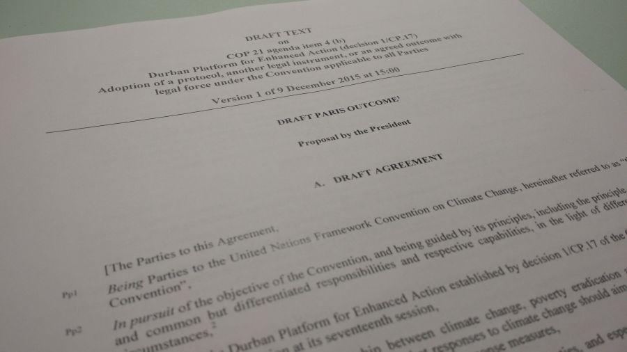 COP-21: Detalle del nuevo borrador de negociación