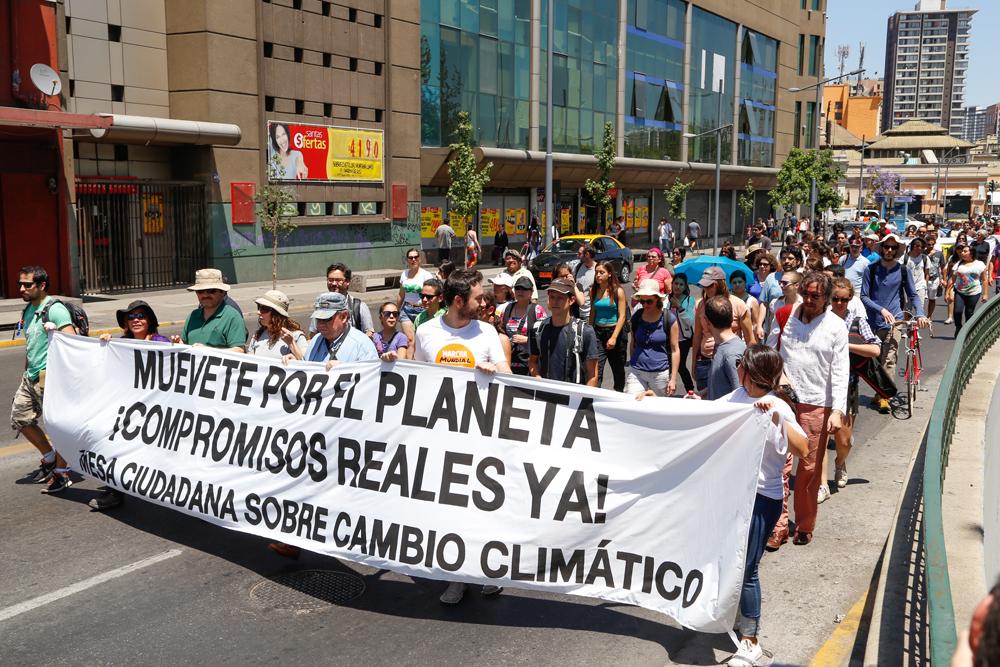 Gran participación ciudadana marcó el Día de Acción Global contra el Cambio Climático en Chile