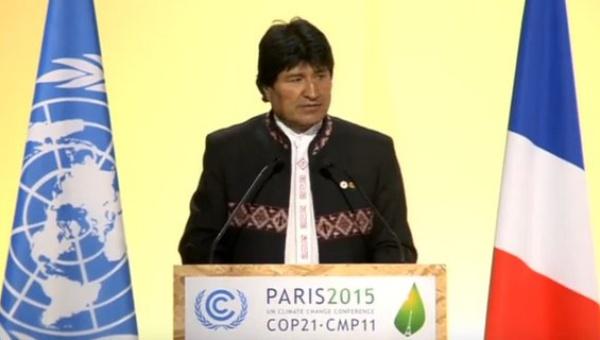 Evo Morales: si el mundo continúa por el camino del capitalismo estamos condenados a desaparecer
